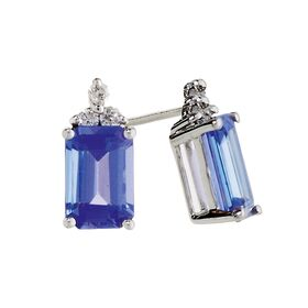 hamond product earrings w cut brilliant shopeer gold hammond white tanzanite
