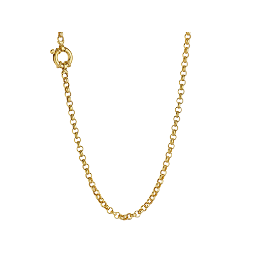 9kt Yellow Gold Rolo Italian Link Chain (3.5mm)
