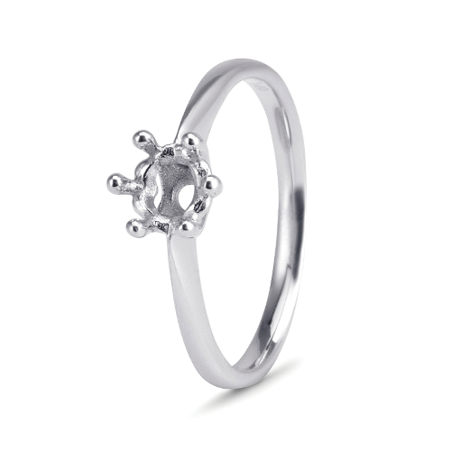 18kt White Gold 6 Claw Solitaire Mount - Suitable for Diamond