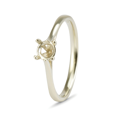 18kt White Gold 4 Claw Solitaire Mount - Suitable for Diamonds