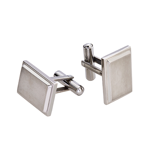 Titanium Step Edge Cufflink (8mm)