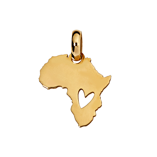 9kt Yellow Gold Mini Africa Heart Cut Out (W12 x H13.4)