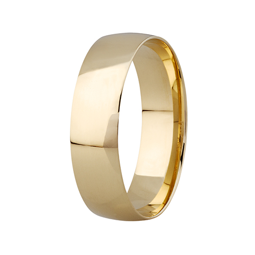 9kt Yellow Gold Comfort Fit Wedding Band (6mm)